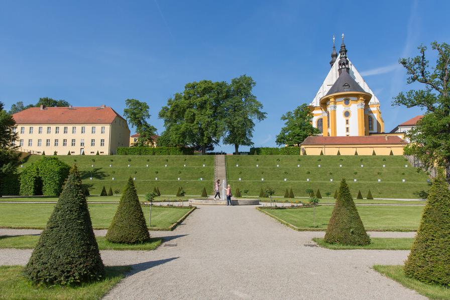 Kloster Neuzelle Klostergarten, Barockgarten, katholische Stiftskirche Parks und Gärten Seenland Oder-Spree, Foto Florian Läufer