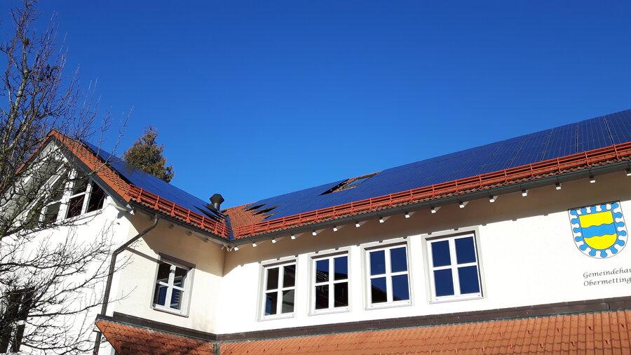 Verpachtete Dachfläche auf dem Gemeindehaus Obermettingen