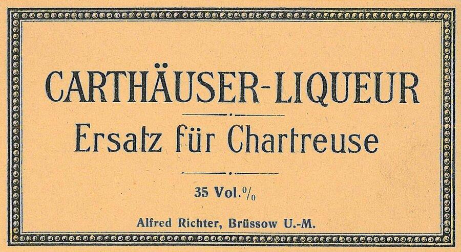 Etikett Carthäuserlikör, ©Silvio Wepner, Pasewalk mit freundlicher Genehmigung
