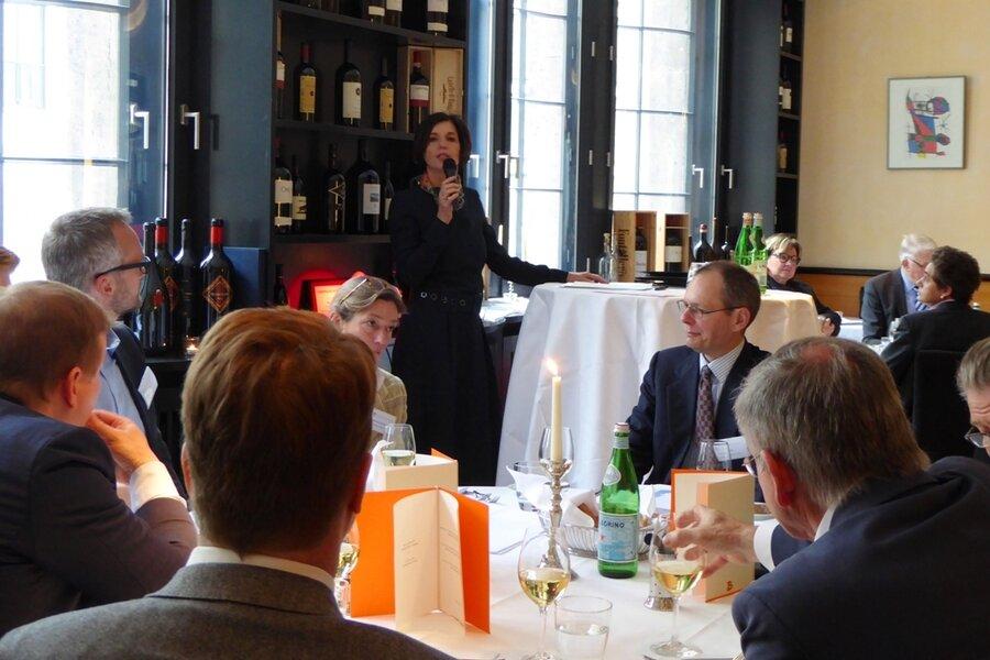 Politisches Mittagessen am 10.04.2019 im Restaurant Bocca di Bacco im Prof. Dr. Jutta Allmendinger