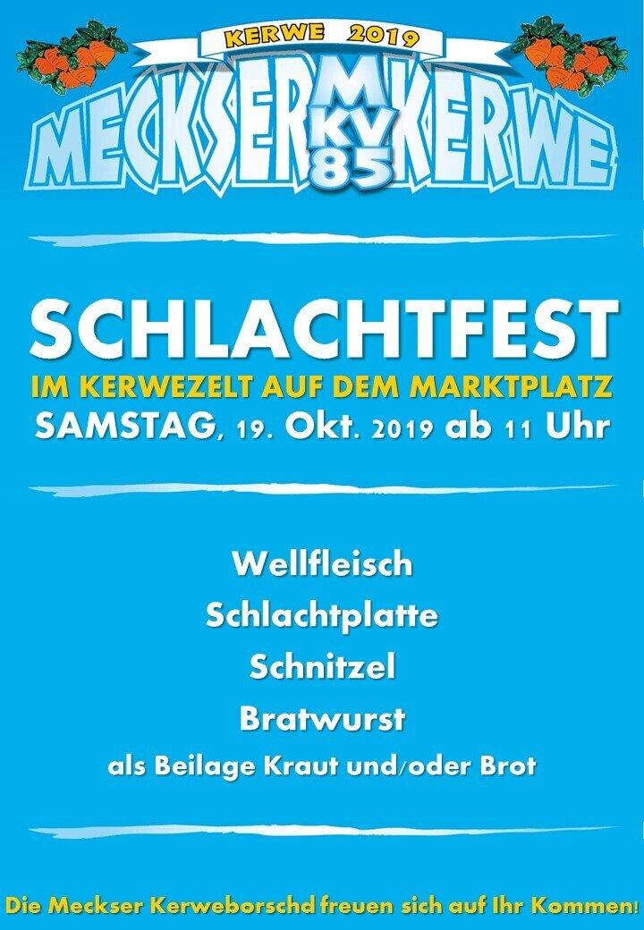 Plakat Schlachtfest
