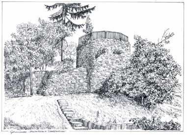 Die Stadtmauer und der Hexenturm