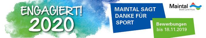 Bild zeigt Banner-Logo für Engagiert! 2020 - Maintal sagt danke für Sport