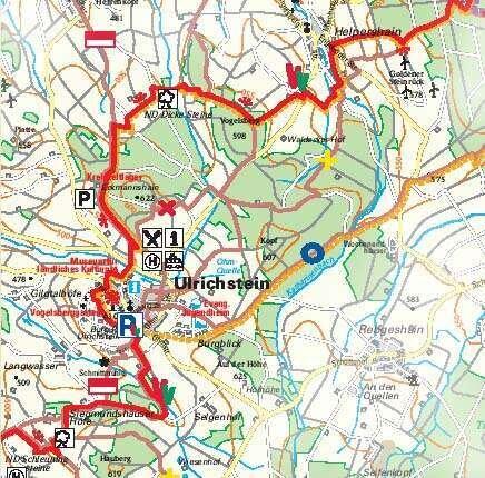 Wegeverlauf um Ulrichstein