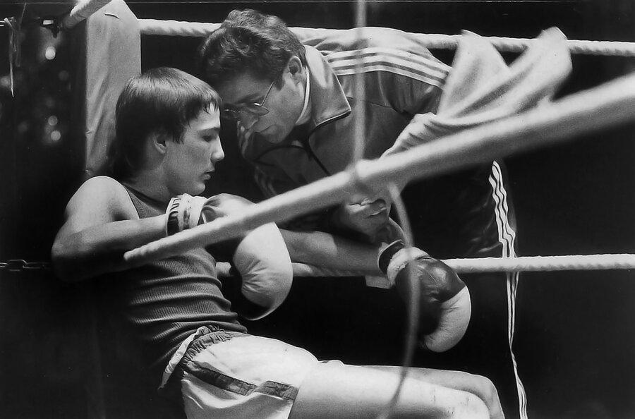 Martin Jander mit Trainer Wolfgang Schmellenkamp.