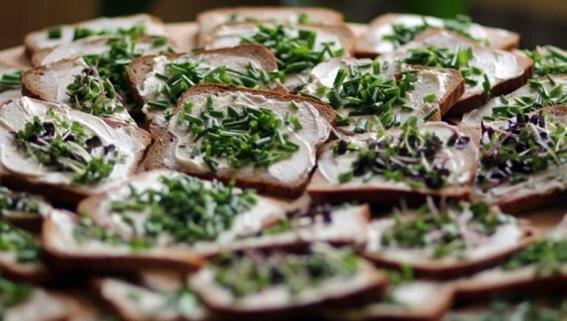 geschmierte Brote