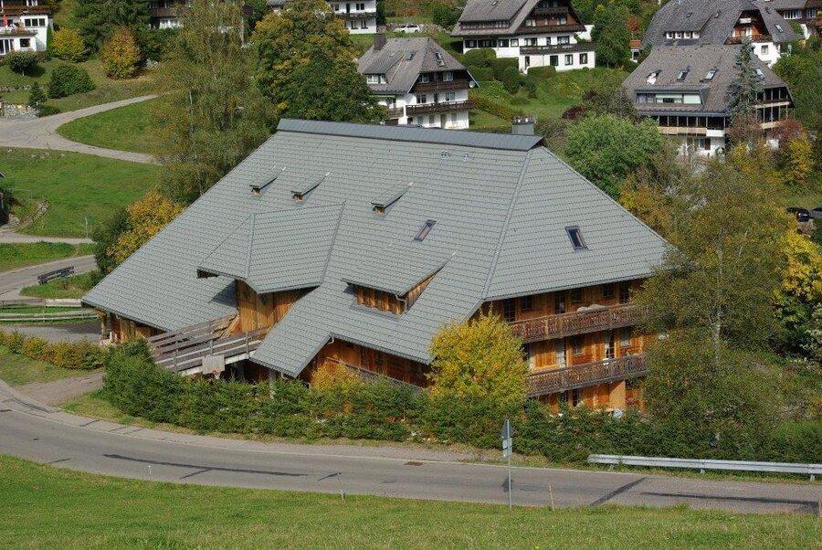 Hofhaus von oben