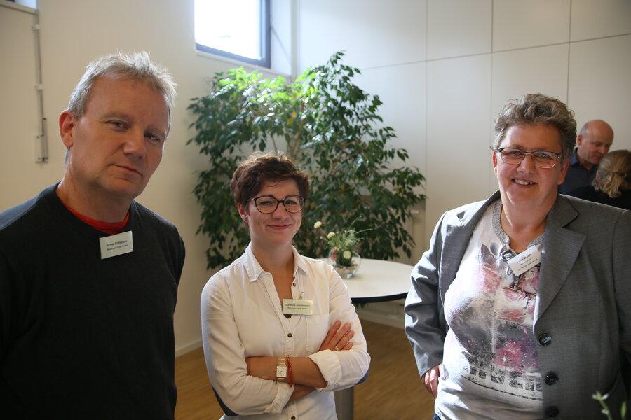 Bernd Röhrborn, Caroline Golatowski (Wassergut Canitz) und Heike Weidt (LPV Nordwestsachsen)