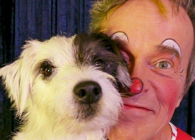 Clown Florin und Hund