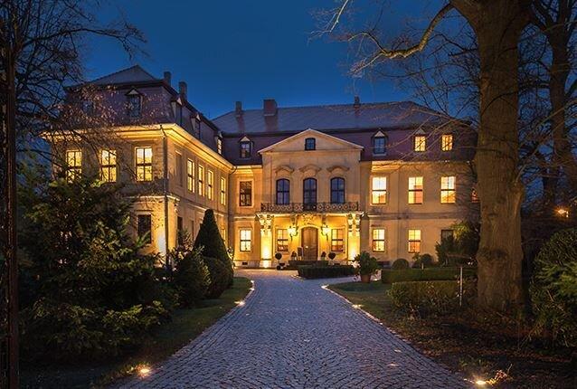 Schloss Lodersleben bei Nacht (mit freundlicher Genehmigung derLodersleben Verwaltungs GmbH)
