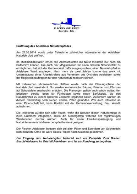 Pressemitteilung Naturlehrpfad (266 KB)