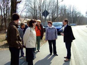 Der LAG-Beirat besichtigt die Örtlichkeiten - März 2010