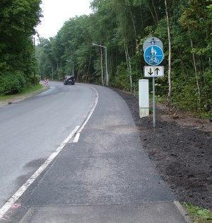 neu errichteter Radweg - September 2011
