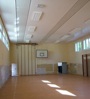 Innenraum während der Sanierung