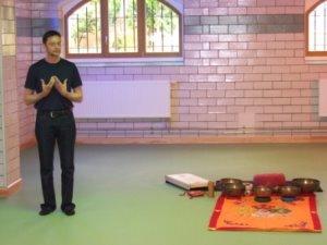 kurzer Meditations-Kurs für die ersten Gäste