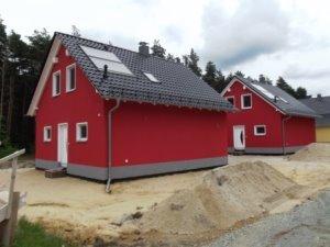 kurz vor Fertigstellung der Ferienhäuser - Juni 2013