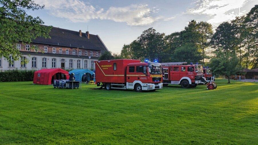 Feuerwehrautos im Einsatz