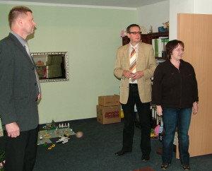 Besichtigung der Praxis mit Dr. Hoppe (Referatsleiter MIL) am 04.06.2009