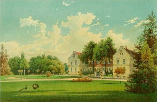 Das Gutshaus Hirschfelde um 1840
