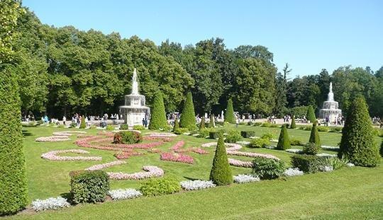 Przykład barokowej sztuki ogrodowej