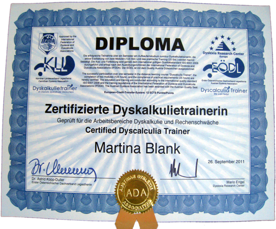 diploma-dyskalkulie
