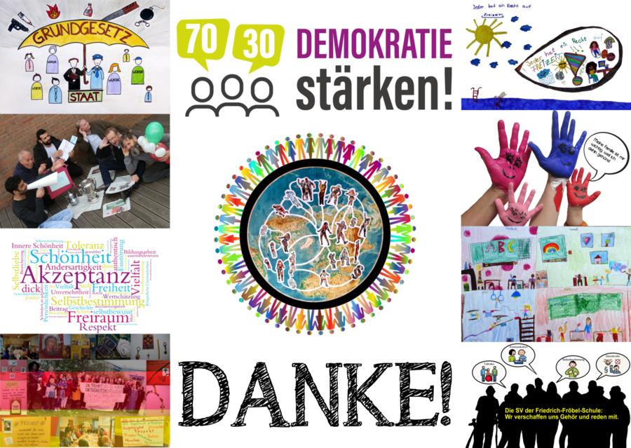 Bild zeigt Postkarte der Plakataktion 70 / 30, Foto: Maintal Aktiv - Freiwilligenagentur