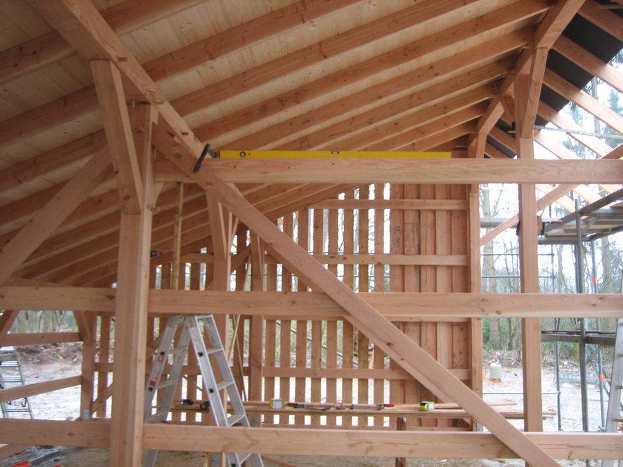 Remise in Holzständerwerk