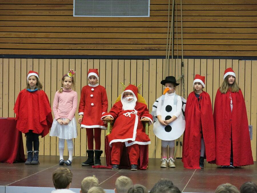 Theaterstück Weihnachtsmann und Schneemann