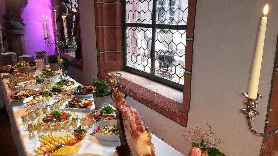 Buffetbereich Salat
