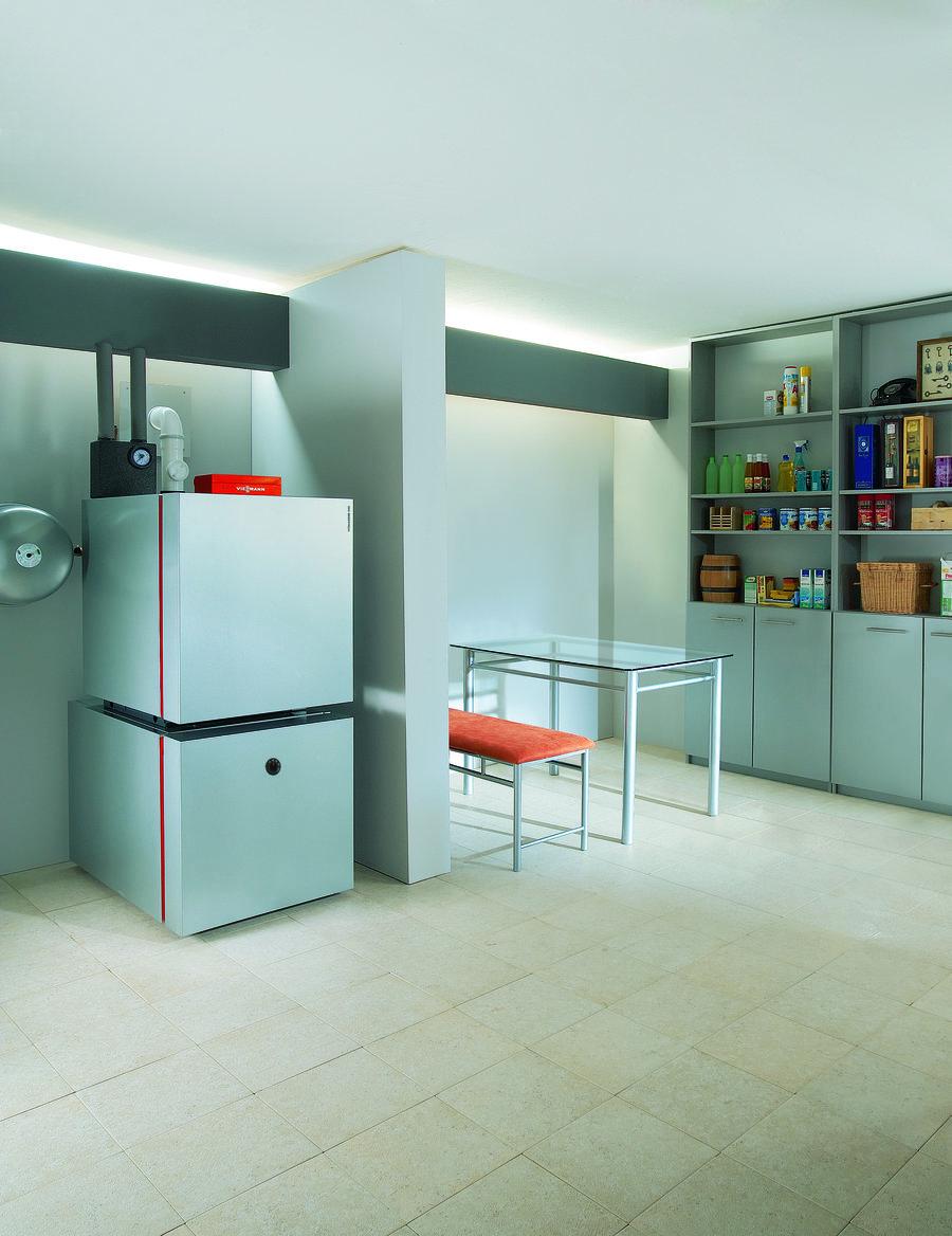 Vitoladens 300-C auf Vitocell Trinkwasserspeicher