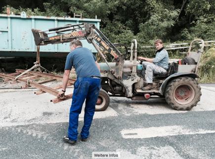 Verladearbeiten am WISMUT-Stolln