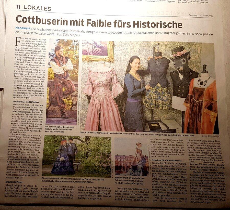 Zeitungsartikel Lausitzer Rundschau