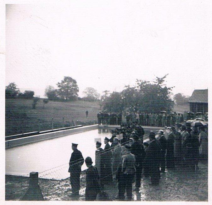 Einweihung des Brandteiches 1956.