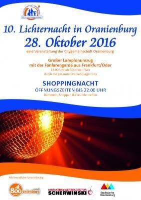 Shoppingführer der 10.Lichternacht