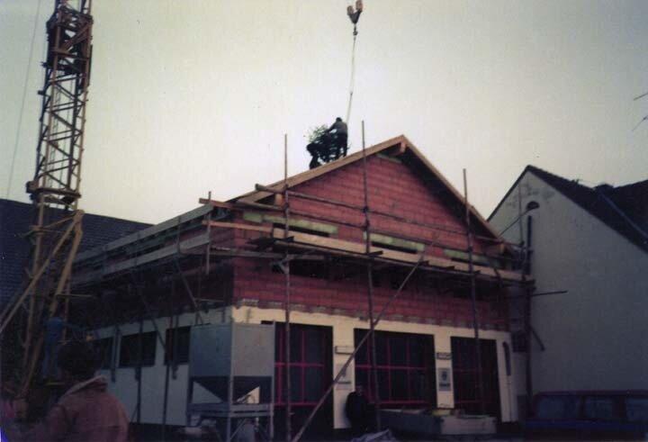 Bau des alten Gerätehauses
