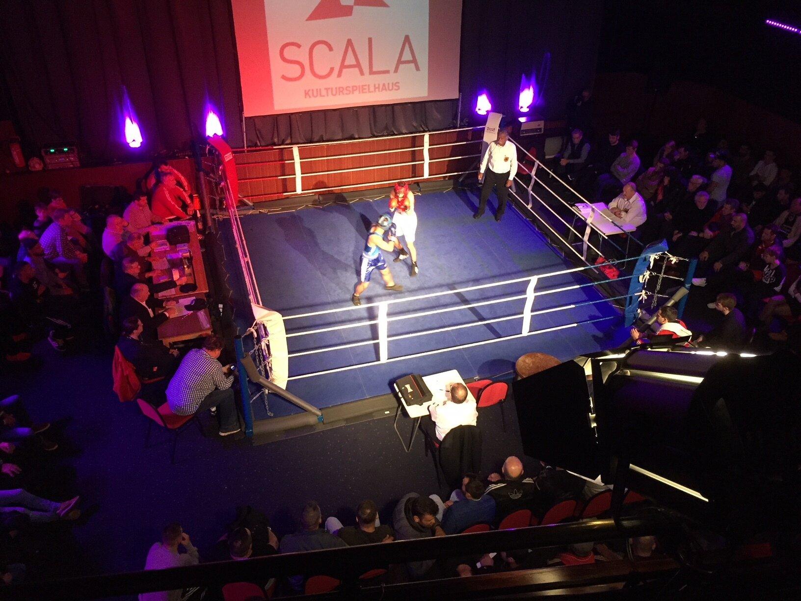 1.Boxveranstaltung im Scala