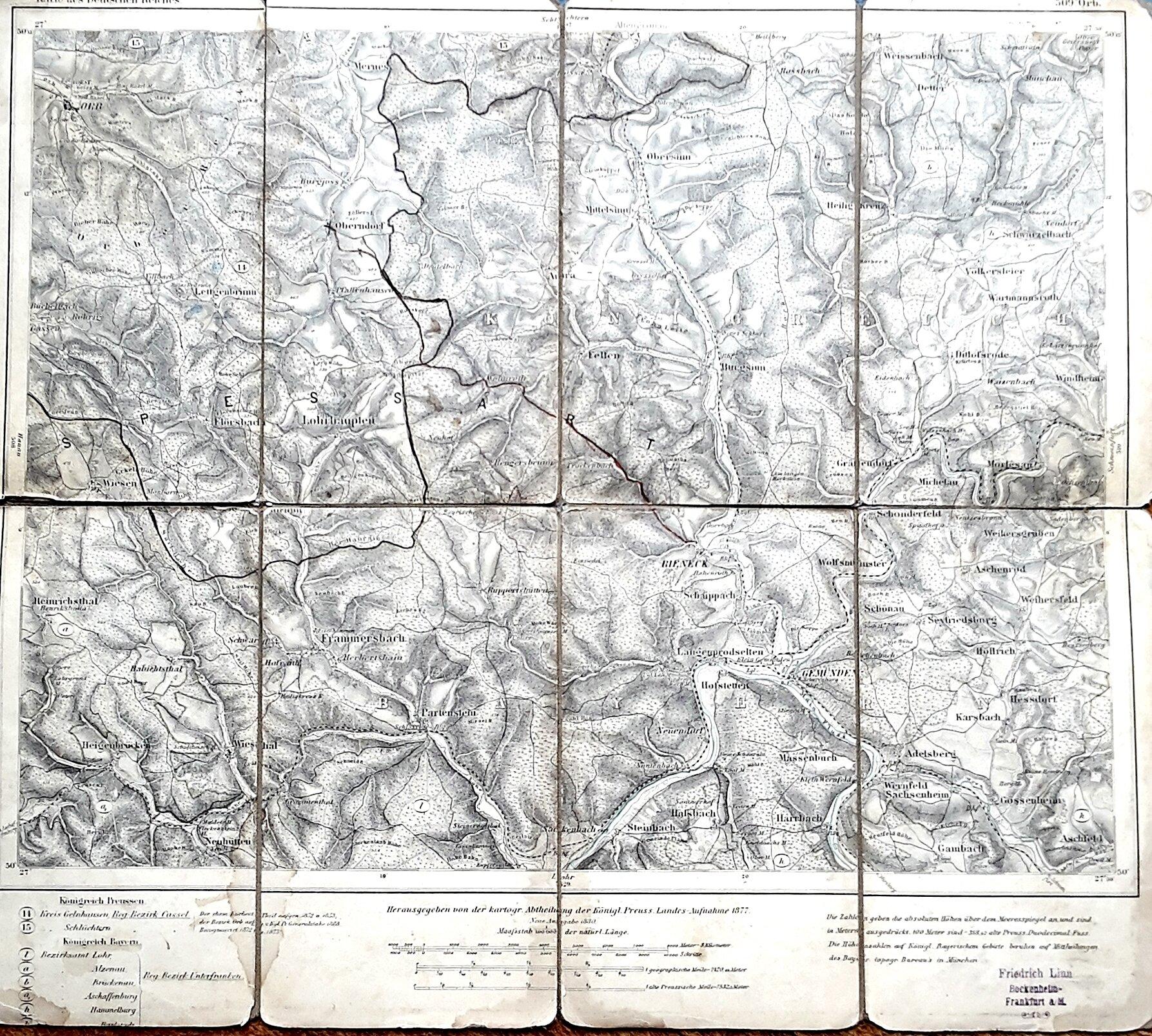 Spessartkarte 1877