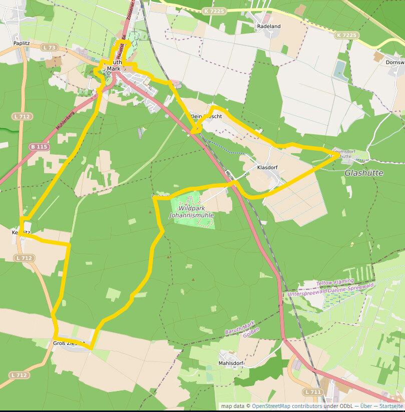Fläming-Glashütte-Weg, 26,5 km