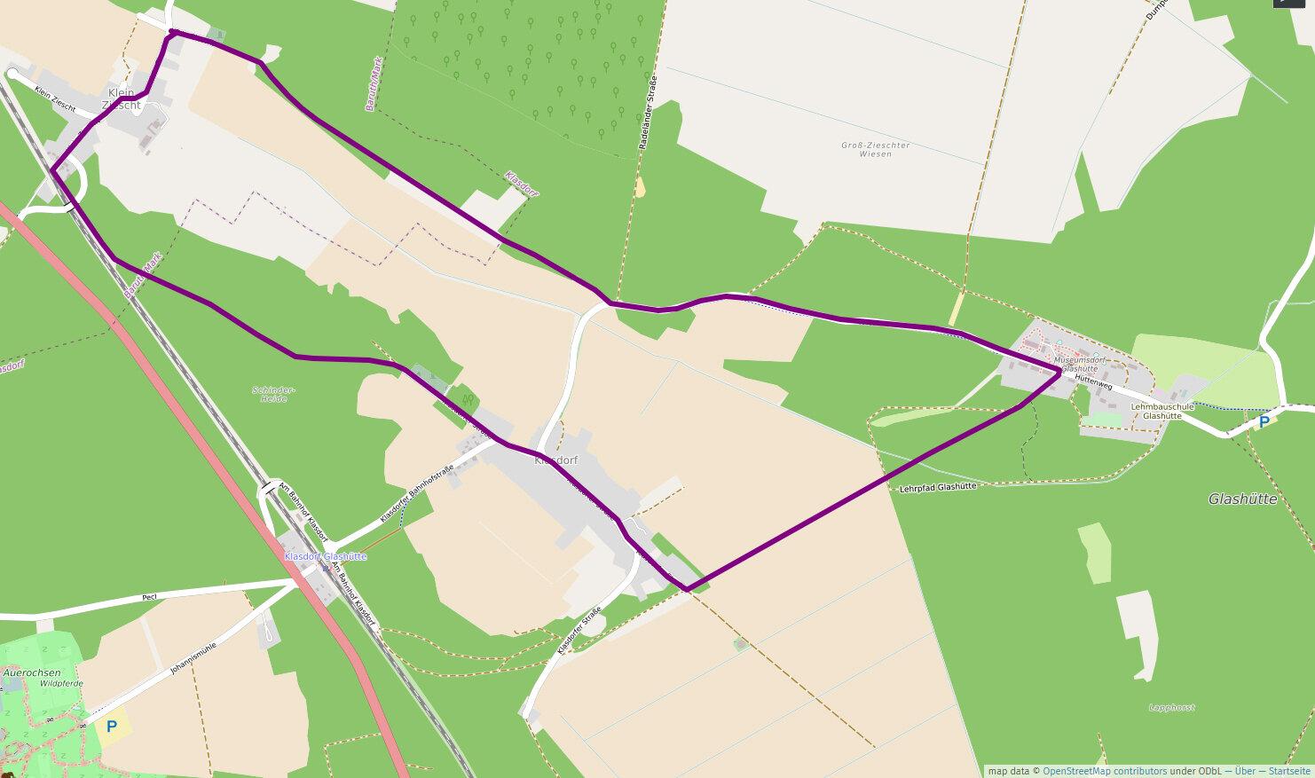 Klasdorfer Rundweg, 8,3 km