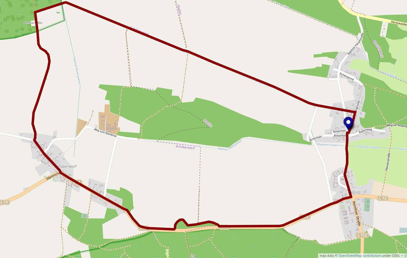 Schöbendorfer Buschweg, 8,8 km