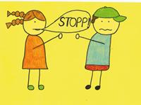5. Ich halte mich an die STOPP-Regel und löse Streit mit Worten.