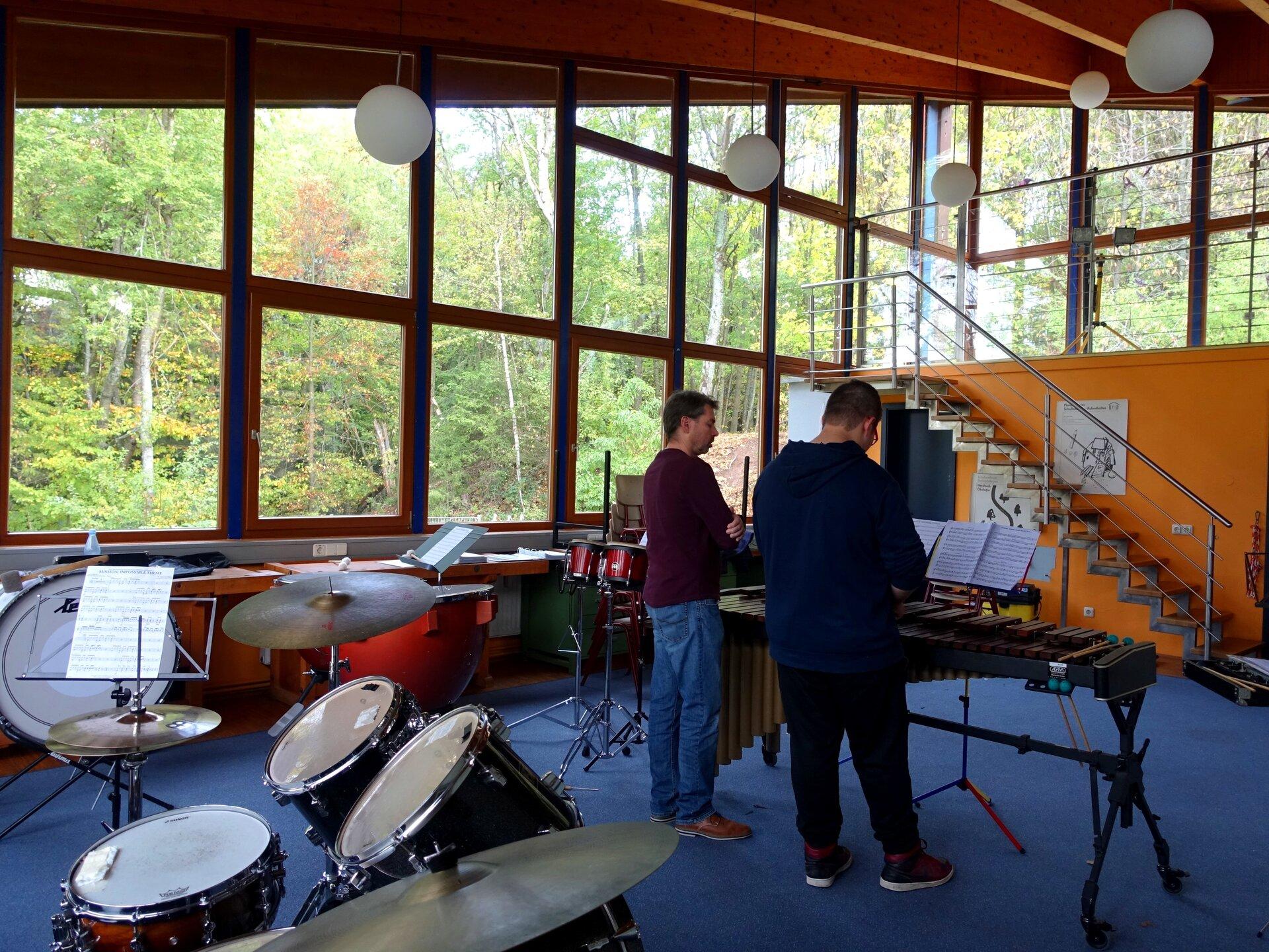 Musikausstattung im Pavillon