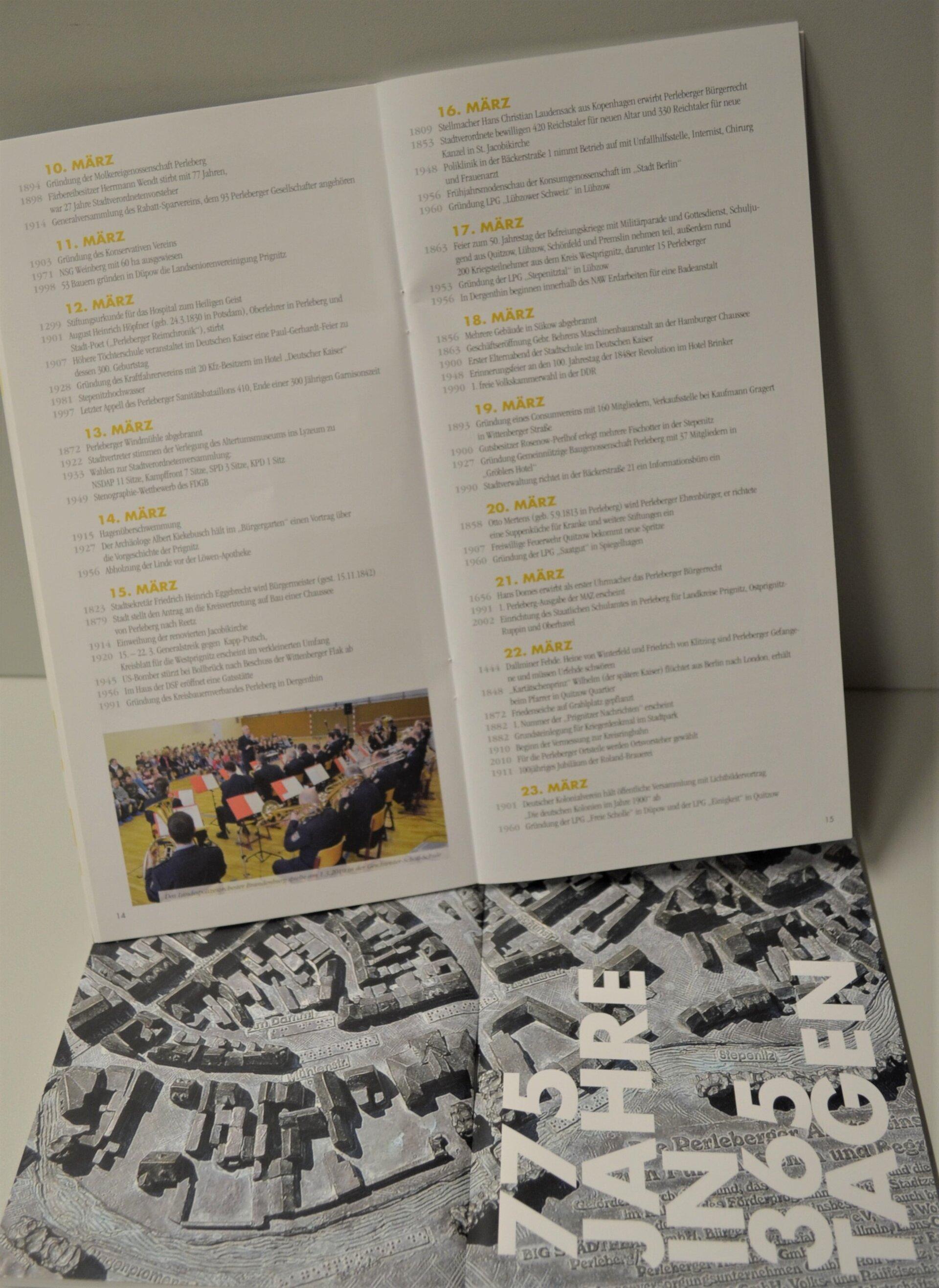 """Broschüre """"775 Jahre in 365 Tagen"""""""