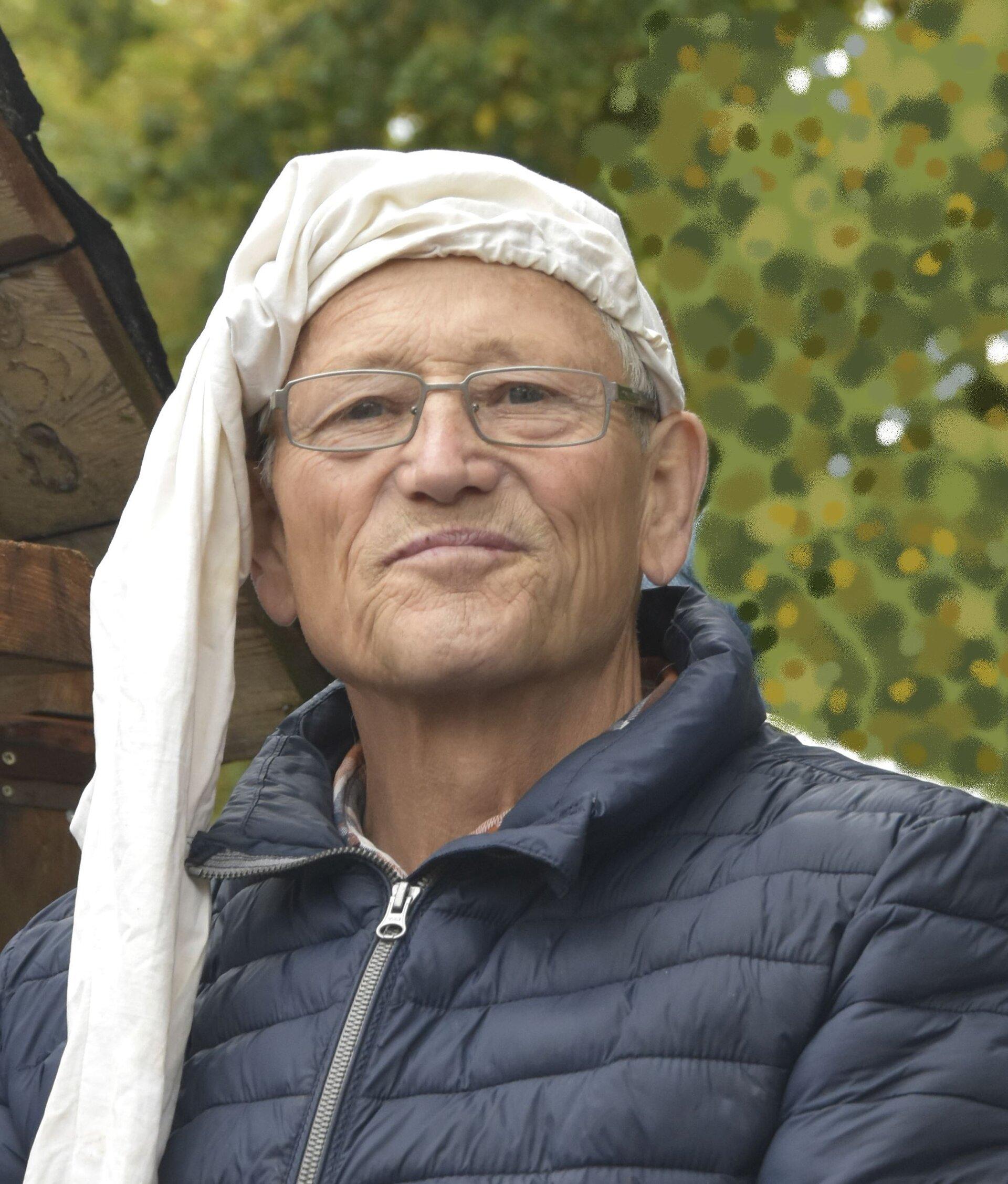 """Der """"Mühlen-Willi"""", Willi Schwetzke bei Erntefest 2019, Foto: S. Weber"""