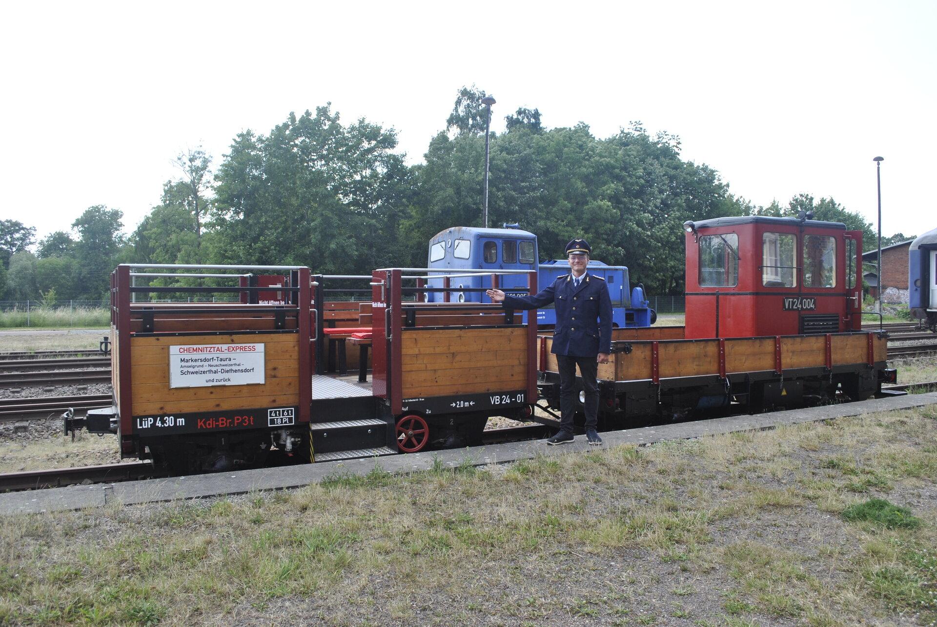 Eisenbahn stehend