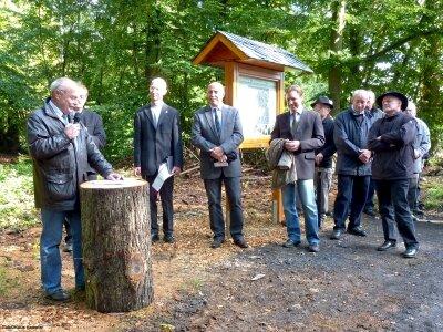 Ortsbürgermeister Friedhelm Vogt bei der Eröffnungsansprache.