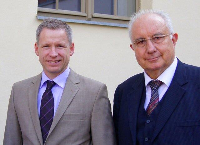 Herr Schulz von der Stiftung und Marko Hübner