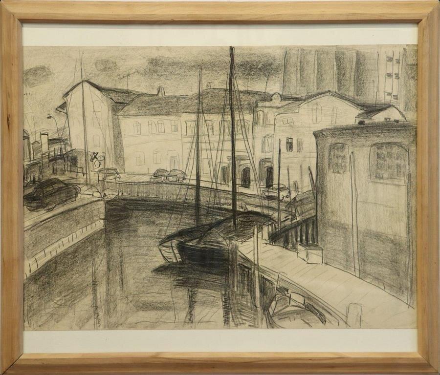 Isolde Gorsboth | Kleiner Hafen Stralsund, 1983