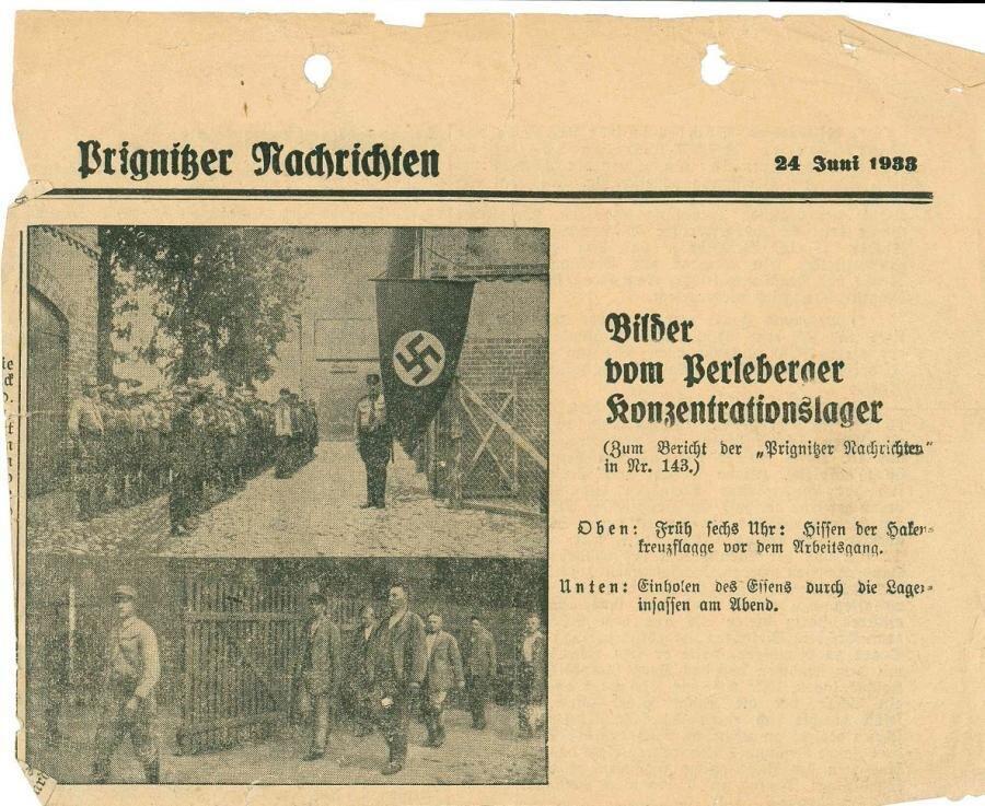 KZ Perleberg, heute Feldstraße 98