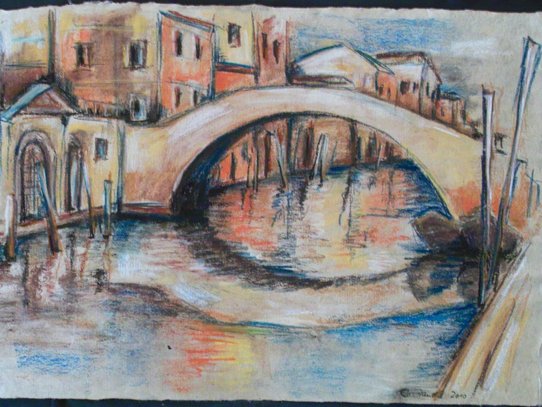 """Christiane Zander """"Venedig"""" Softpastell"""